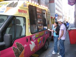 Ice cream man, book a Mr Whippy van today